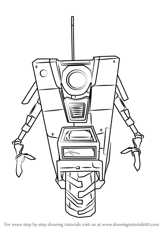 Claptrap Coloring Pages