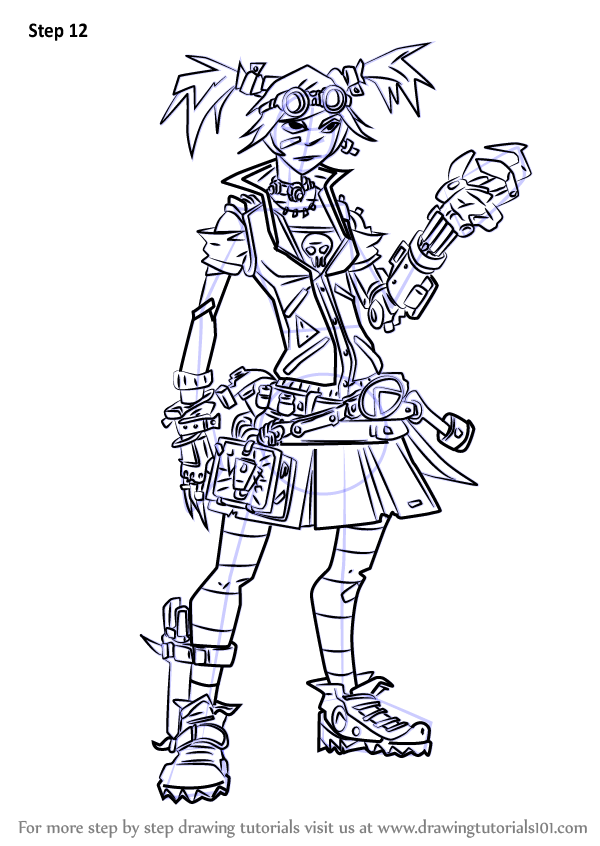 Learn How To Draw Gaige From Borderlands Borderlands