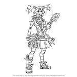 How to Draw Gaige from Borderlands