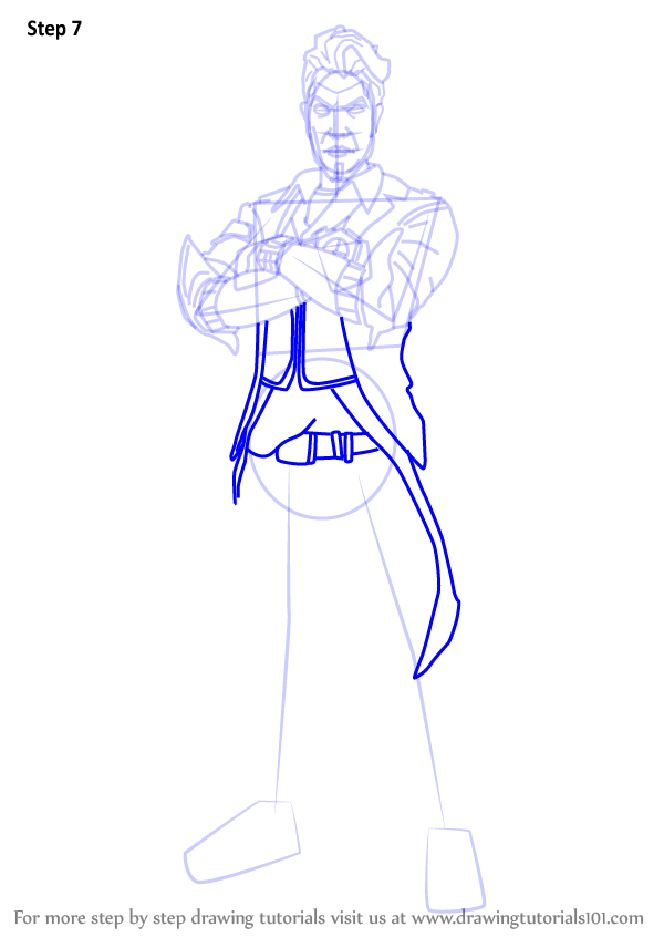 Step By Step How To Draw Handsome Jack From Borderlands