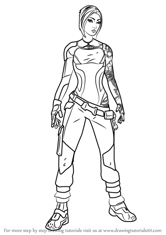 Learn How to Draw Maya from Borderlands (Borderlands) Step ...