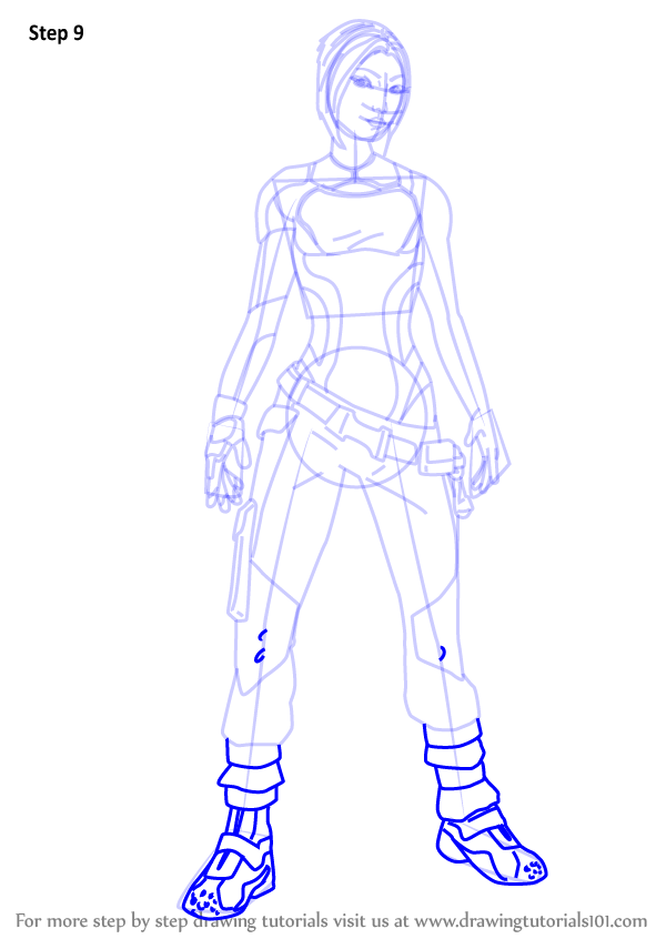Learn How To Draw Maya From Borderlands Borderlands Step