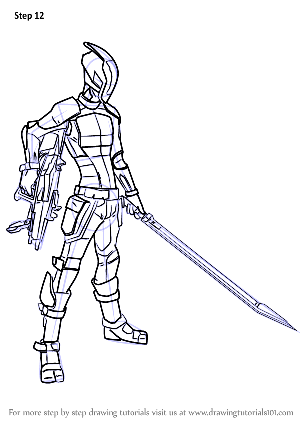 Learn How To Draw Zer0 From Borderlands Borderlands Step