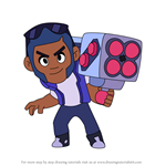 How to Draw Brock from Brawl Stars