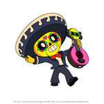 How to Draw Poco from Brawl Stars
