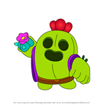 How to Draw Spike from Brawl Stars