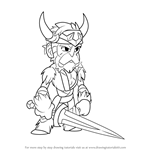 How to Draw Bodvar from Brawlhalla