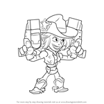 How to Draw Cassidy from Brawlhalla