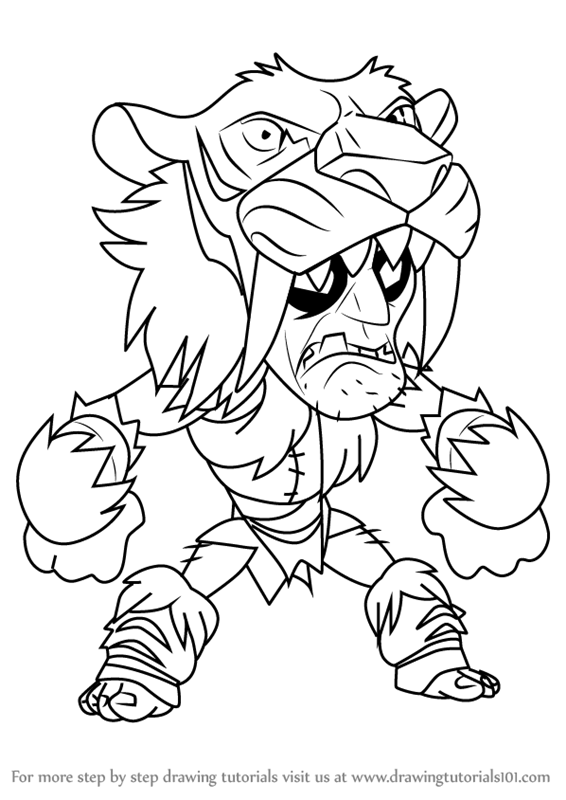 Learn How To Draw Gnash From Brawlhalla Brawlhalla Step
