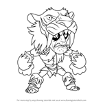 How to Draw Gnash from Brawlhalla