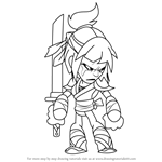 How to Draw Hattori from Brawlhalla