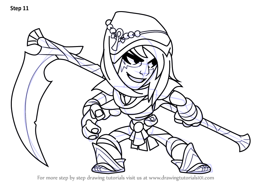 learn how to draw mirage from brawlhalla  brawlhalla  step