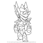 How to Draw Orion from Brawlhalla