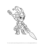 How to Draw Queen Nai from Brawlhalla