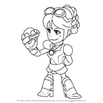 How to Draw Scarlet from Brawlhalla