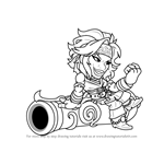 How to Draw Sidra from Brawlhalla