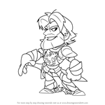 How to Draw Sir Roland from Brawlhalla