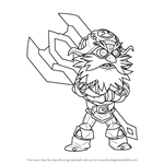 How to Draw Ulgrim from Brawlhalla