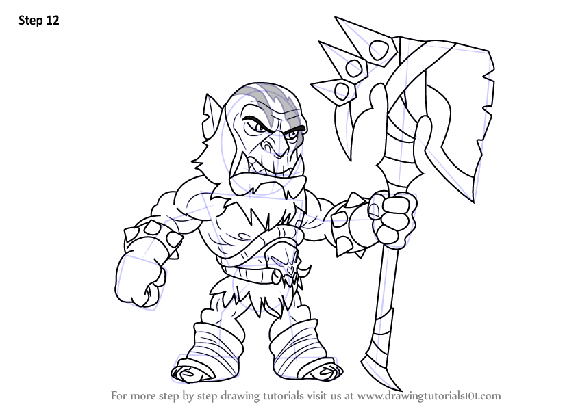 Learn How To Draw Xull From Brawlhalla Brawlhalla Step