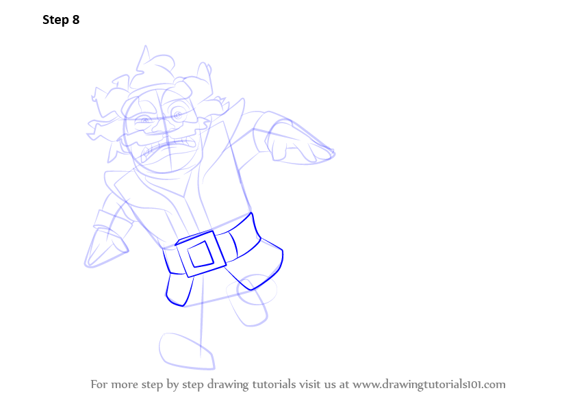Step By Step How To Draw Electro Wizard From Clash Royale