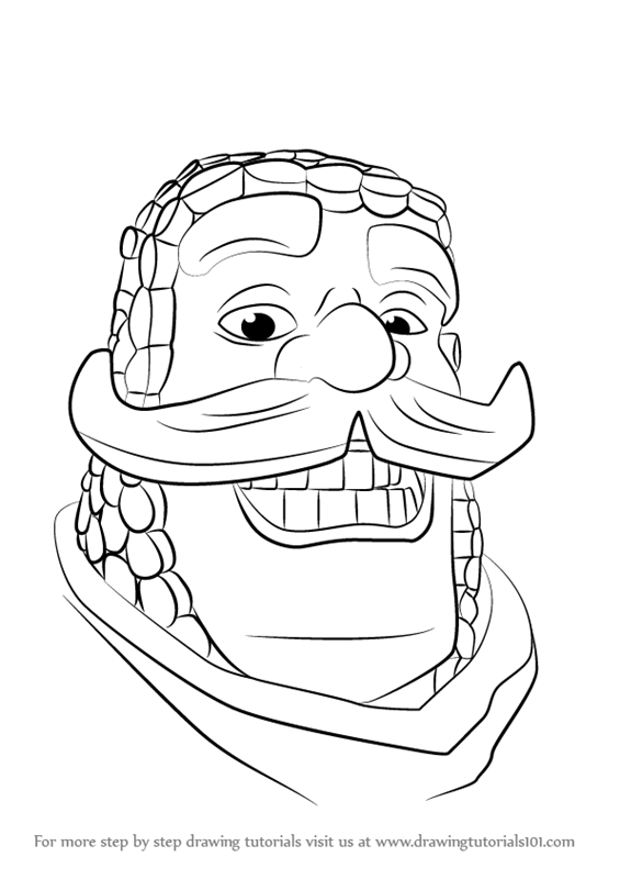 how to draw clash royale characters