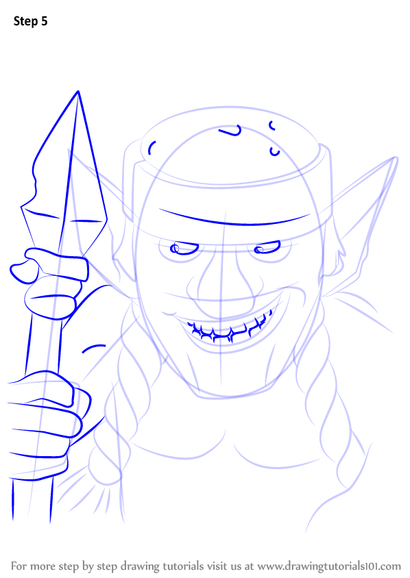 learn how to draw spear goblins from clash royale  clash royale  step by step   drawing tutorials