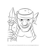 How to Draw Spear Goblins from Clash Royale