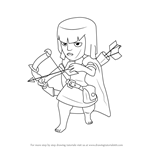 How to Draw Archer from Clash of the Clans