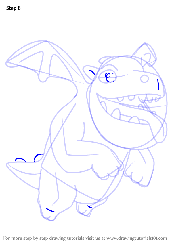 Learn How To Draw Baby Dragon From Clash Of The Clans