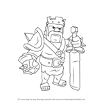 How to Draw Barbarian King from Clash of the Clans