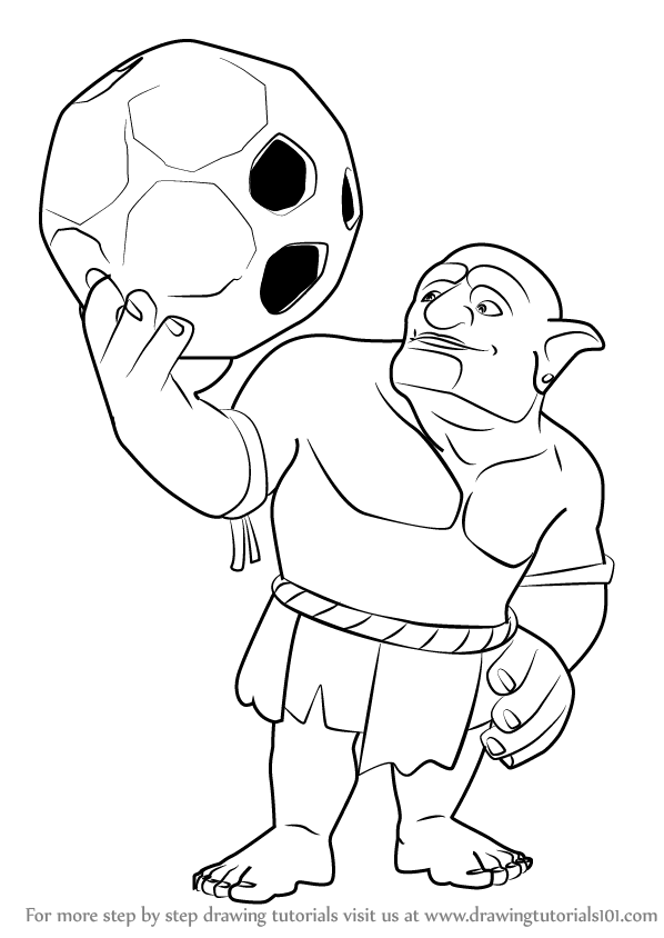 Learn How to Draw Bowler from Clash of the Clans (Clash of ...