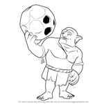 How to Draw Bowler from Clash of the Clans