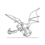 How to Draw Dragon from Clash of the Clans