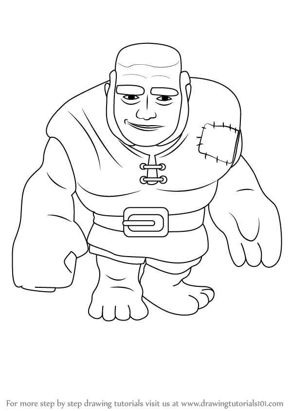 learn how to draw giant from clash of the clans clash of