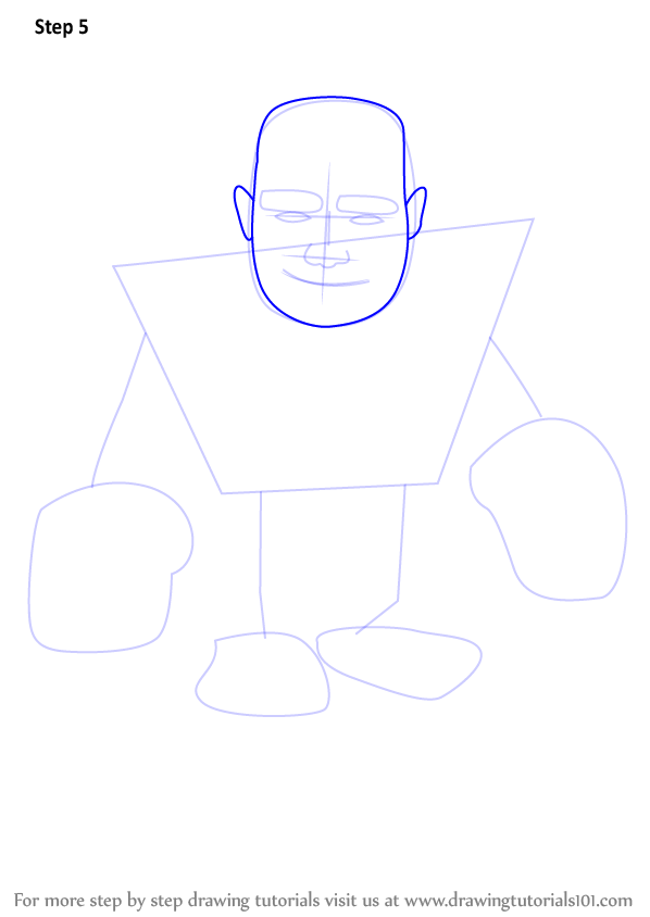 how to draw a clash royale giant