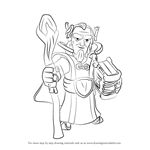 How to Draw Grand Warden from Clash of the Clans