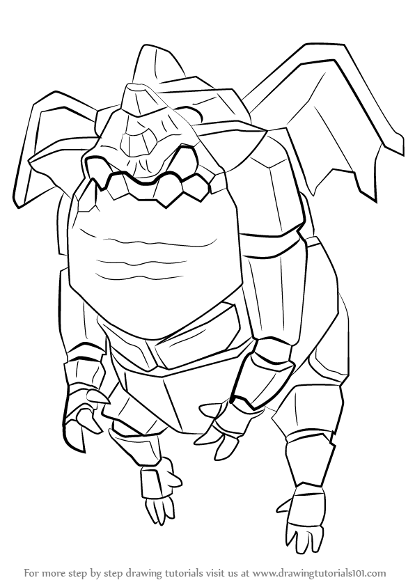 Learn How To Draw Lava Hound From Clash Of The Clans Sparky The Coloring Pages