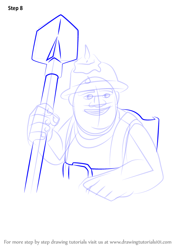 Learn How To Draw Miner From Clash Of The Clans Clash Of