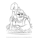 How to Draw Miner from Clash of the Clans