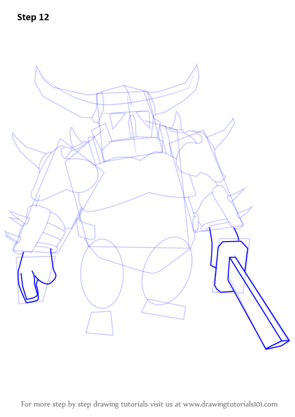 Step by Step How to Draw Pekka from Clash of the Clans ...