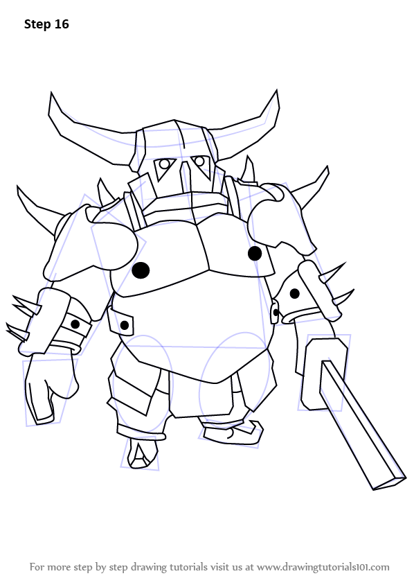 Learn How To Draw Pekka From Clash Of The Clans Clash Of