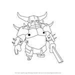 How to Draw Pekka from Clash of the Clans