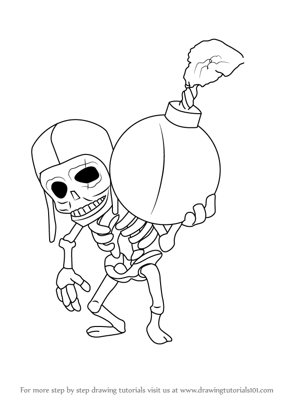 Fire Spirits Clash Royale Coloring Page Coloring Pages