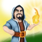 How to Draw Wizard from Clash of the Clans