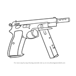 How to Draw CZ75-Auto from Counter Strike