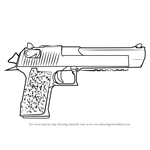 How to Draw Desert Eagle from Counter Strike