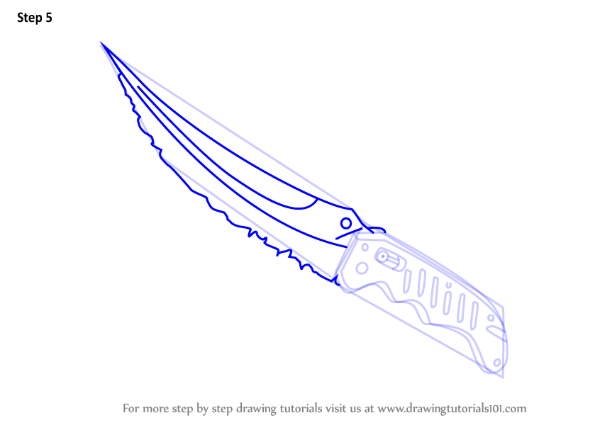 how to draw cs go knife