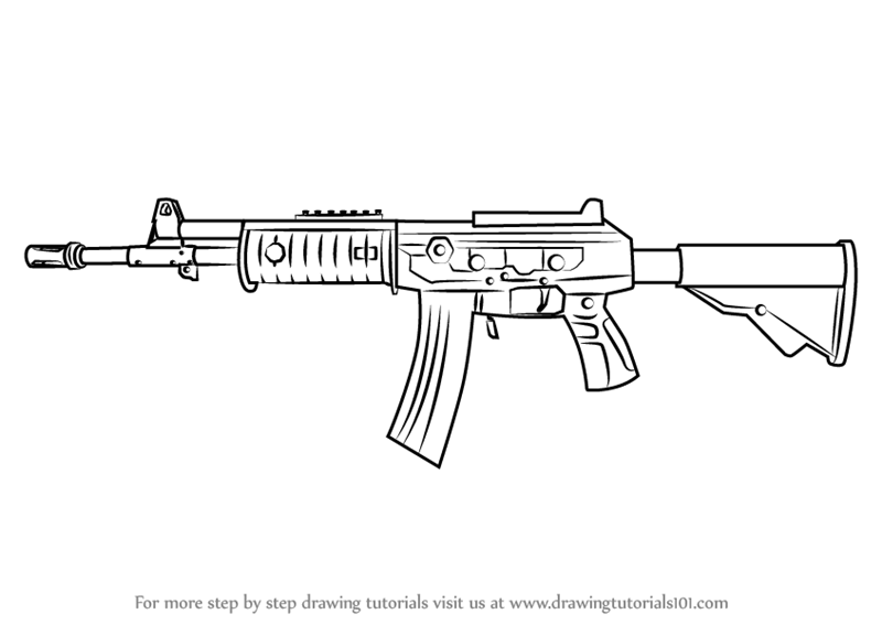 Learn How To Draw Galil Ar From Counter Strike Counter