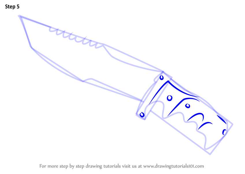 knife drawing step by step - 848×602
