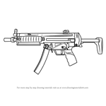How to Draw MP5 from Counter Strike